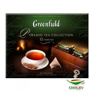 Чай Greenfield Pyramid Tea Collection 12 видов 50*1,8 г и 10*2 г (картон)