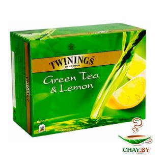 Чай TWININGS Lemon 50*2 г зеленый