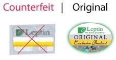 Обратите внимание на рисунок: продукция, на которую нанесен логотип слева, является подделкой.